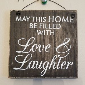 Love & Laughter Wood Plaque